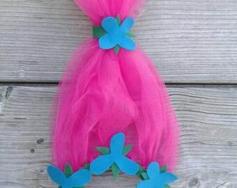 Poppy Headband & Dress, Poppy Troll headband, Troll party ideas, Poppy Troll Birthday, Troll headband, DJ Suki headband, Troll Birthday