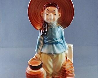 Vintage Royal Copley Asian Girl Planter