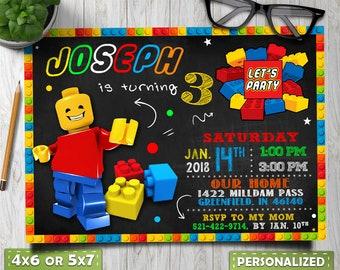 lego birthday invitations, lego party invitations, lego invite, Lego invitation, lego boy invitation, lego birthday, lego thank you tags