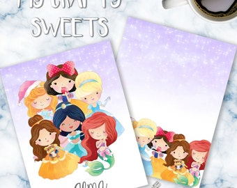 Disney Princesses 1.2 Planner Cover for use of ECLP or Happy Planner