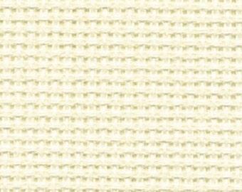 Aida, 14 count Cream Aida from DMC, 55 x 50 cms, cross stitch fabric, Ecru aida