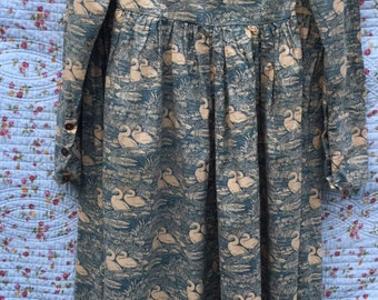 Vintage Laura Ashley swan dress