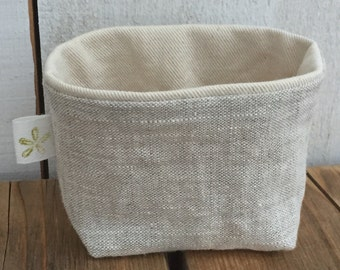 Tiny Linen Basket