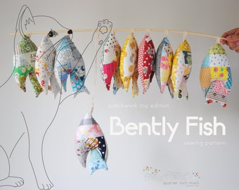 Bently Fish Patchwork Toy Sewing Pattern/PDF
