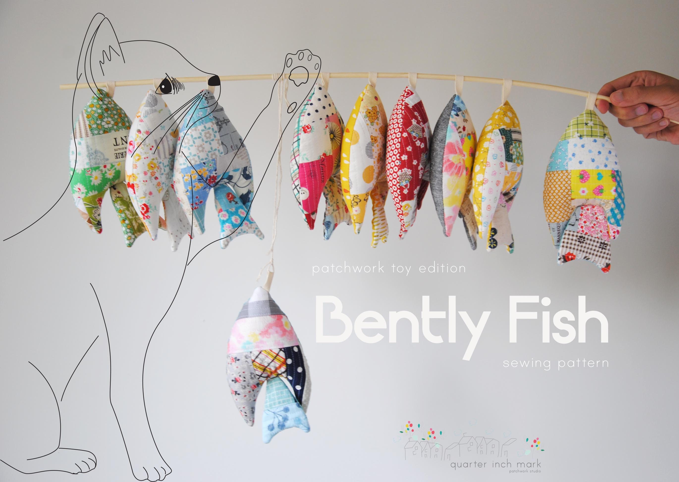 Bently fish patchwork toy sewing patternpdf zoom jeuxipadfo Image collections