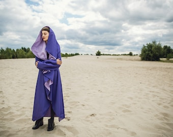 Octagon cape, simple coat, unique raincoat, 4 colors available