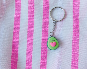 Pink Handmade Guacamole Avocado Heart Halves SET Pin Button Pinback Guac Perfect Pair Other Half Keychains