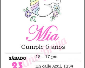 Printable Unicorn Invitation