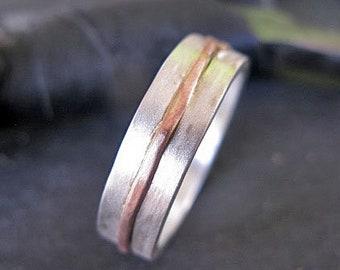 Mens Wedding Band Rustic Wedding Band Mens Wedding Ring Unique Mens Wedding Band Rustic Ring Viking Wedding Ring Mens Wedding Bands