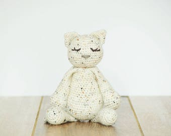 Cat, Kitten, Crochet Animals, Made to Order, Handmade Toys, Stuffed Animals, Amigurumi cat, Handmade Crochet Toys, Livlandiawithlove