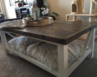 Contemporary Rustic Coffee Table - Reclaimed wood, FREE SHIPPING