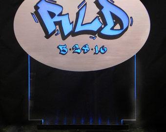 Bar Mitzvah Glowing Centerpiece - Birthday - Corporate  - ILLUMINATED