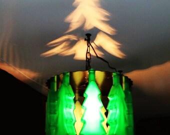 Christmas tree bottle shadow light, Christmas lights, Christmas, gift, Christmas gift, home and living, holiday decor, home decor, holiday