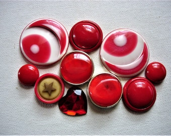 Fun Craft Lot of Various Broken Red Vintage Jewelry and Items