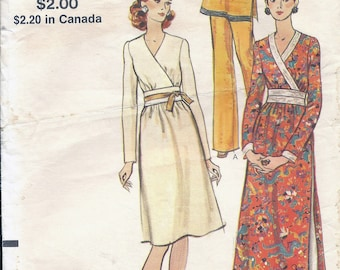 70s Vogue 8234 Misses' Dress, Tunic and Pants Sewing Pattern UNCUT