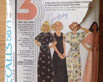 Vintage 70s McCall's 5871 Sleeveless Dress • size 10-12-14