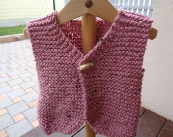 wool vest sleeveless girls 6 months