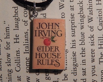 Cider House Rules Book Necklace, Brooche, or Keychain