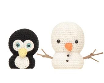 Mr Penguin and Snowman Amigurumi Patterns