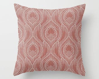 Red Pillow Cover Scroll Pillow Throw Pillow Decorative Pillow Size Choice