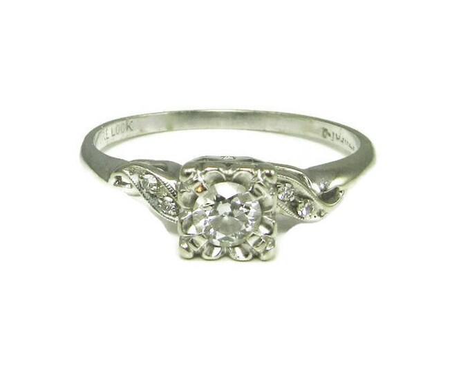 Diamond Engagement Ring; Vintage Diamond Engagement Ring; Engagement Ring; Vintage Engagement Ring; Promise Ring; Vintage Promise Ring