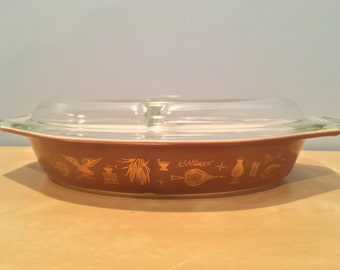 Vintage Pyrex Americana Divided Dish