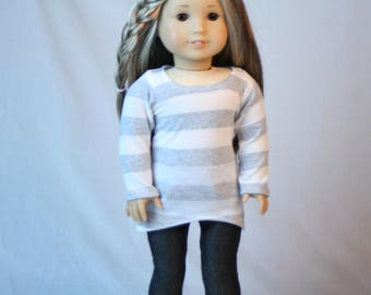 18 Inch Doll Shirt,  made to fit American Girl Doll, Comfy T-shirt, 18 inch Doll Clothes,  American Doll T-shirt, comfy t-shirt
