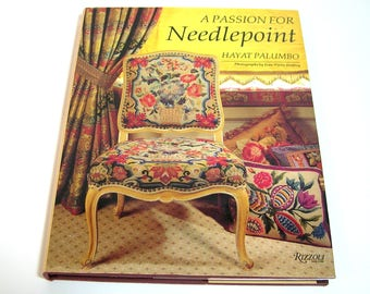 A Passion for Needlepoint by Hayat Palumbo, Vintage Needlework Book