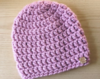 CLEARANCE Pink Fitted Beanie