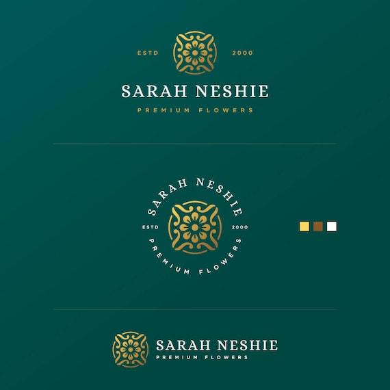Branding Set, Flower Blog Logo, Flower Logo, Elegant Logo, Initial Logo, Cheap Logo, Handwritten Logo, Simple Logo, Photographer logo, Logo