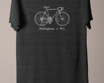 Bellingham bike tee, Bellingham WA shirt, Bellingham tshirt, city bike tees