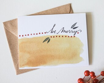 Be Merry-  christmas - holiday - greeting card