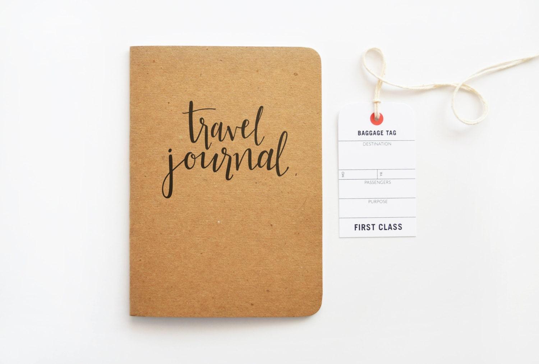Kraft Travel Journal Calligraphy Travel Notebook Hand