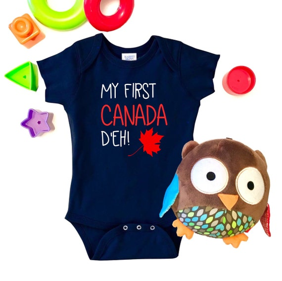 First Canada Baby Onesie by OylCreations