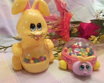 Easter Toddlers  Bunny and Rabbit  Popping Toys set of  2