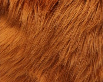 Shaggy Luxury Faux Fur Fabric by the yard (Z2) - Caramel