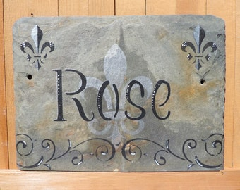 Rose Personalized Slate