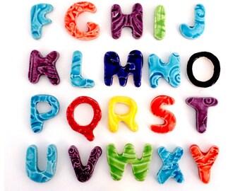 "Mosaic Letter Tiles - 3/4"" Ceramic Letters"
