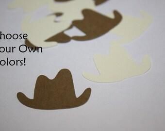 Choose your colors! Cowboy Hat Die Cut Confetti Table Decor 200 pieces