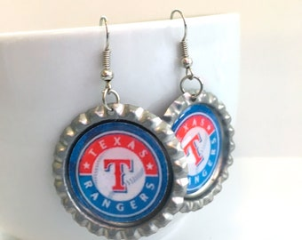 Texas RANGERS Baseball Handcrafted Earrings