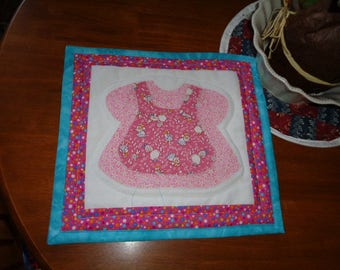 Baby Dress Table Runner, Table Topper, Wall Hanging Pink