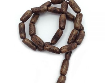 Salwagtuben, dark Olive, 16 mm, 1 strand, 24 pieces,