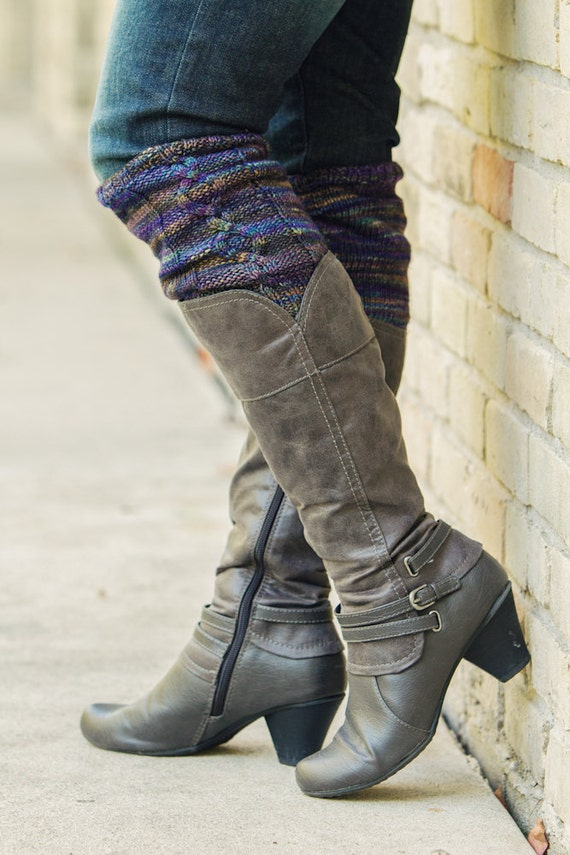 Knitting Pattern Pdf File For Cabled Boot Cuffs Boot