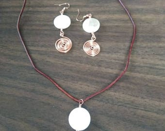 Copper and Mother of pearl