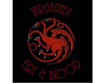 Targaryen Dragon Fire and Blood Machine Embroidery Design - Game of Thrones - 3 SIZES - Instant Download