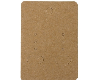 """100 """"neutral"""" for jewelry coffee cardboard supports clear 7x5cm"""