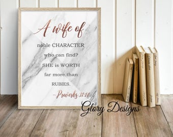 PRINTABLE, Bible Verse, Proverbs 31 printable, A wife of noble character print, Proverbs 31:10,  Scripture Art, Women's printable, Mother