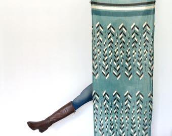 Sage Grouse Organic Cotton, Hand Block-Printed Scarf