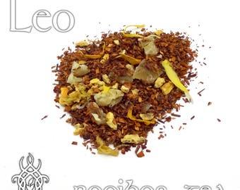 Leo Loose Leaf Tea - loose leaf rooibos tea, orange pineapple, creamsicle, Leo zodiac gift, star sign, astrology tea, birthday gift