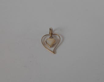 Handmade Solid Sterling 925 silver and mother of pearl pendant.
